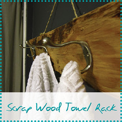 scrap wood towel rack