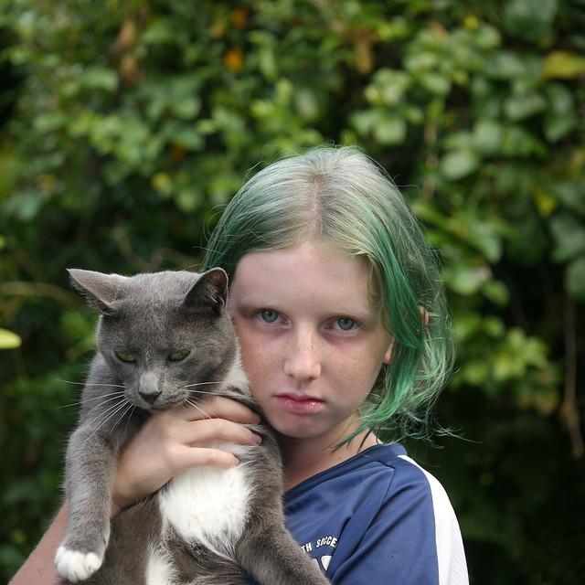 Green Eyes, Blue Eyes, Green Hair