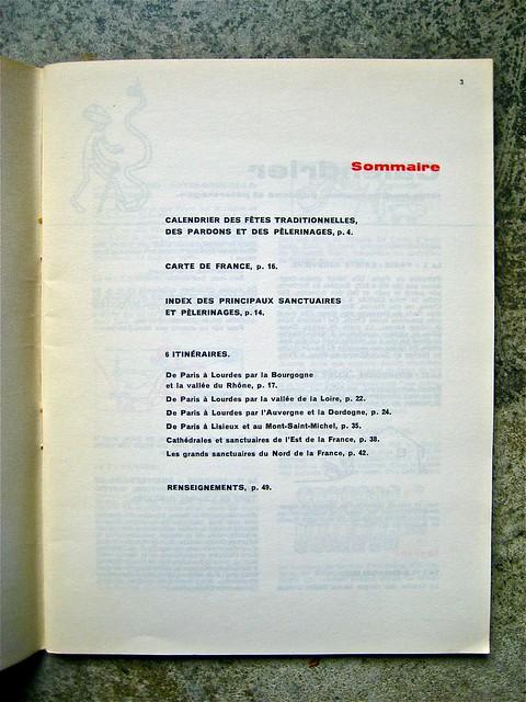 Cathédrales et sanctuaires, a cura di Ministère des Travaux Publics; Published by and for the French Governement [data non ind.]; Ill. originali: Atelier du Coeur Meurtry, Typog. et mise en page: Massin. Sommario (part.), 1