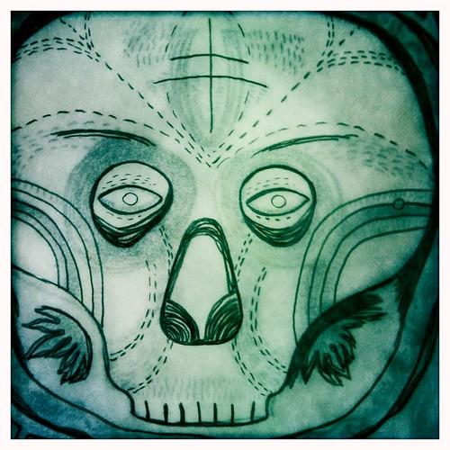 skull mask sketch