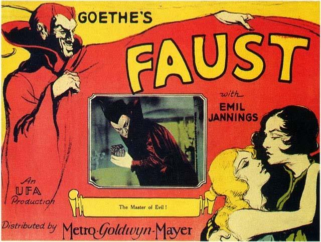 Amerikanisches Filmplakat F.W. Murnau, Faust -- eine deutsche Volkssage via Cinemalane