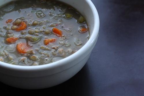 Lentil soup w/sausage