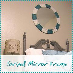 Striped Mirror Frame