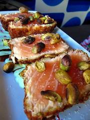 pistachio salmon
