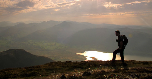 On Longside Edge with Bassenthwaite Lake and the North Western Fells beyond