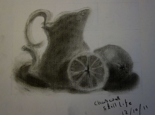 Charcoal Still Life by vishangshah