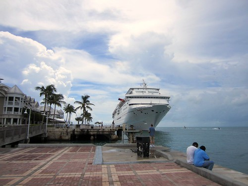 cruise ship docked at mallory square