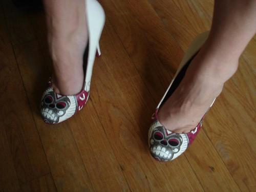 Sugar skull shoes!