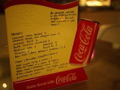 Dessert menu, Wimbly Lu Chocolates, 15-2 Jalan Riang
