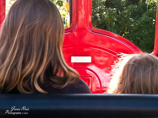 The front... and back... of the little one on the Woodstock Express.