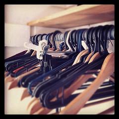 Nearly empty wardrobe