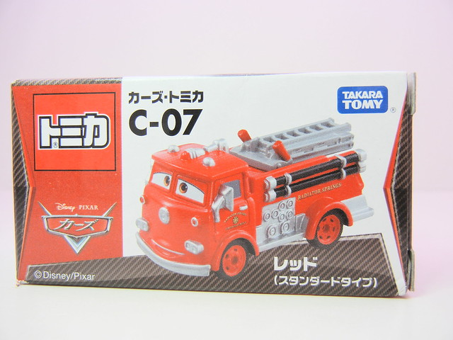 disney cars tomica c-07 red (1)