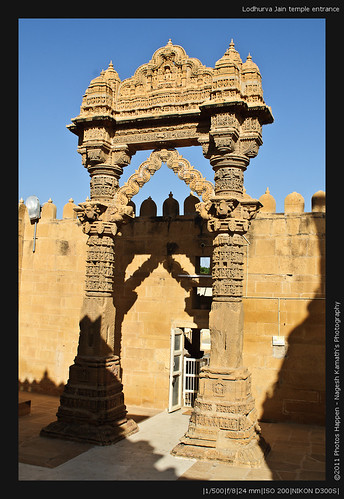 Lodhurva Jain temple entrance
