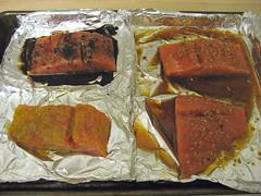 salmon, 3-ways