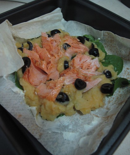 salmon tortilla