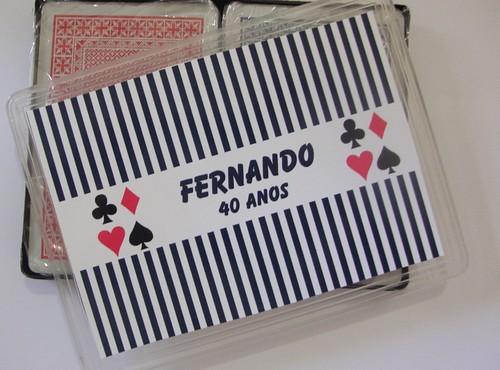 Baralho do Fernando by by Luciana Godoy - Lembrancinhas Personalizadas