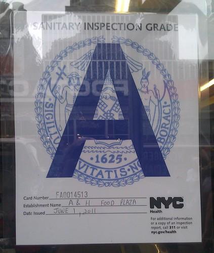 NYC Eatery Hygiene Grade