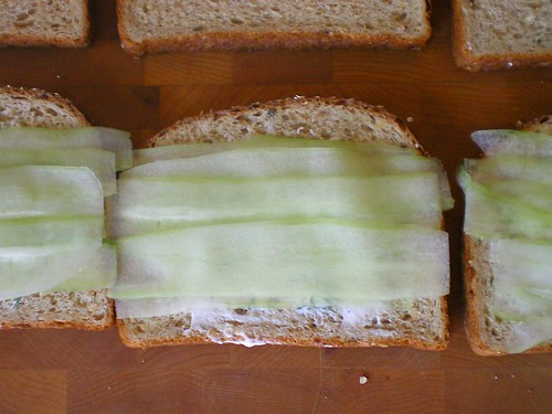 Layering cucumber