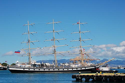 Pallada approaching Pier 9
