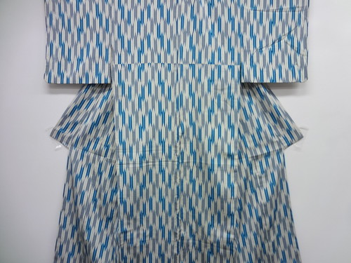 Blue, Gray, and White Yabane Komon