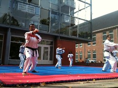 Karate exhibition at Delfiade 2011