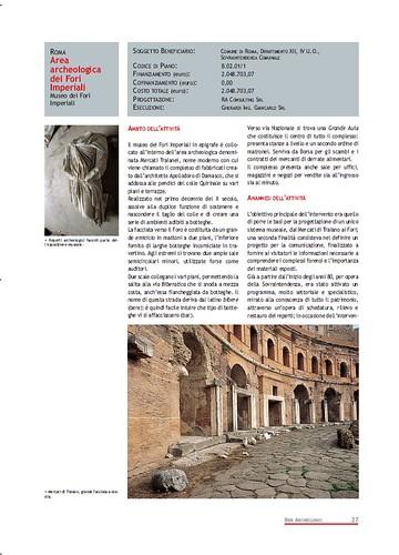 Rome, The Imperial Fora Project (1998-2011) Documents [in PDF]: Roma - Area Archeologica dei Fori Imperiali -  Museo dei Fori Imperiali. Com. di Roma (1999-2000). by Martin G. Conde