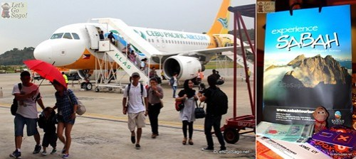 Arriving at the Kota Kinabalu International Airport