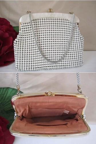 Handbag White Glomesh