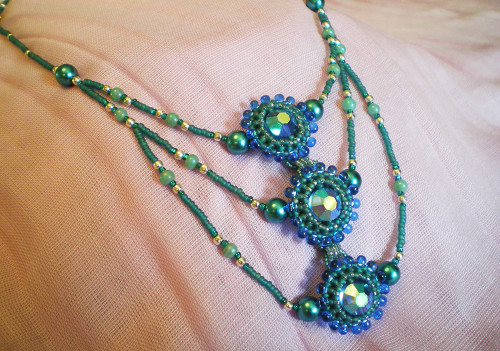 Peacock's Tail Necklace