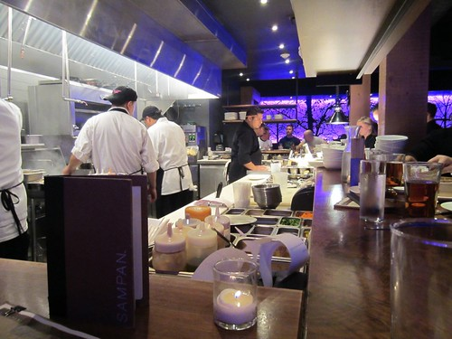 chef's counter at sampan