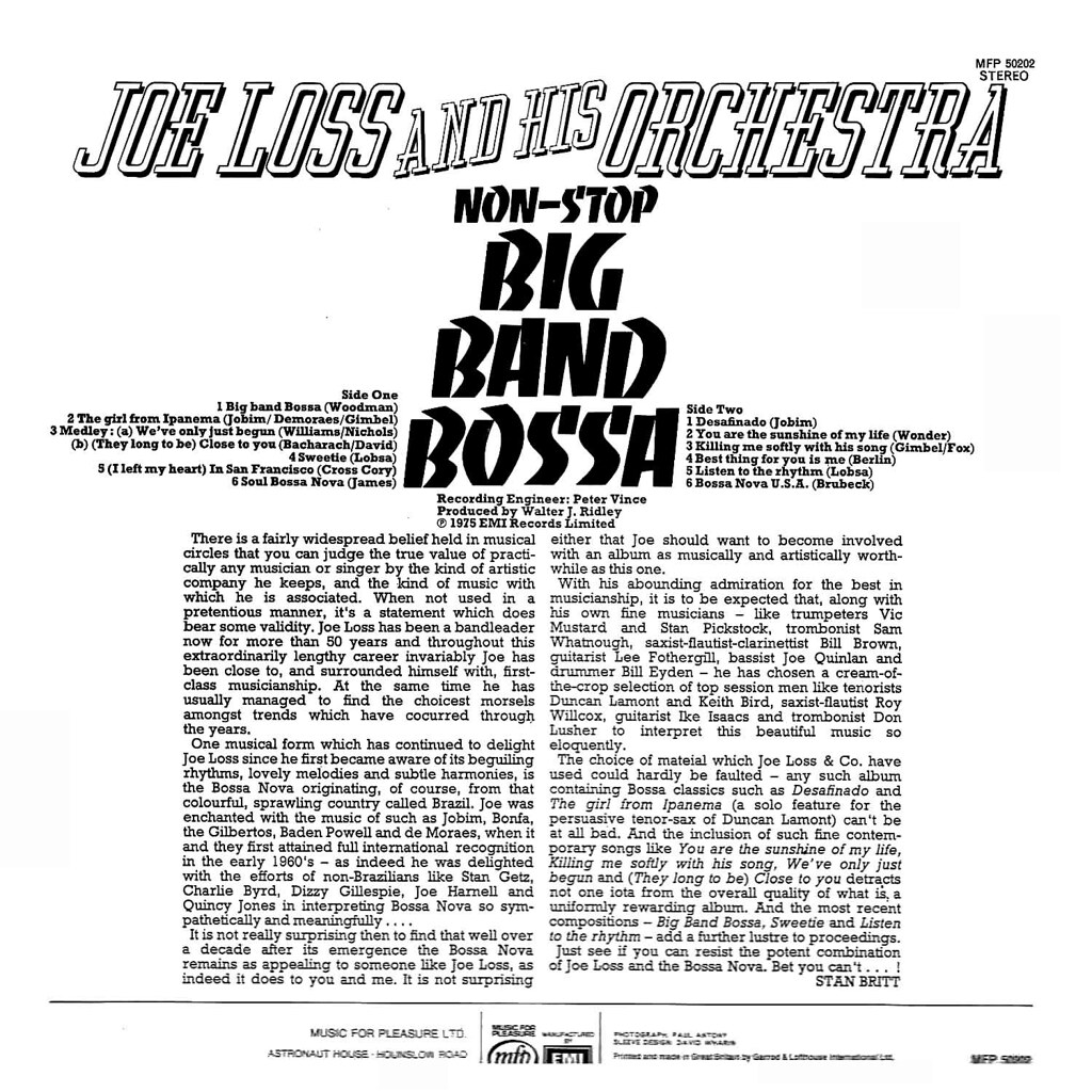 Joe Loss - Big Band Bossa