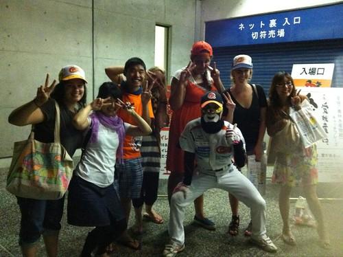 Mask Man at the Mandarin Pirates Game!