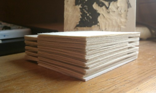 Paper stack ready for Baren exchange #50 by Serendipity Artist