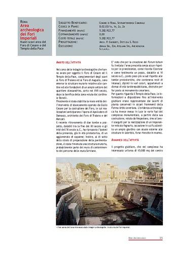 Rome, The Imperial Fora Project (1998-2011) Documents [in PDF]: Roma -Area Archeologica dei Fori Imperiali - Nuovi scavi area del Foro di Cesare e Tempio della Pace.  Com. di Roma (1999-2000). by Martin G. Conde