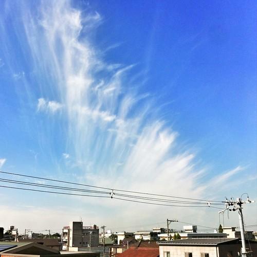 おはよ〜 ㌰㌰⋋( 'Θ')⋌㌰㌰ 雲がすごーい! #ohayo #iphonography #instagram