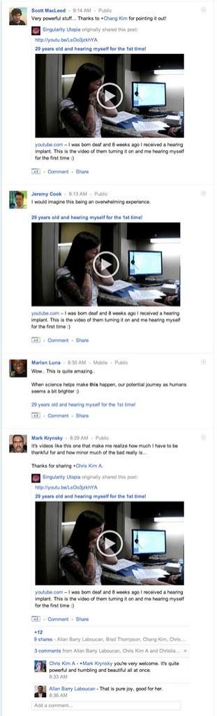 Shared post display - Google Plus