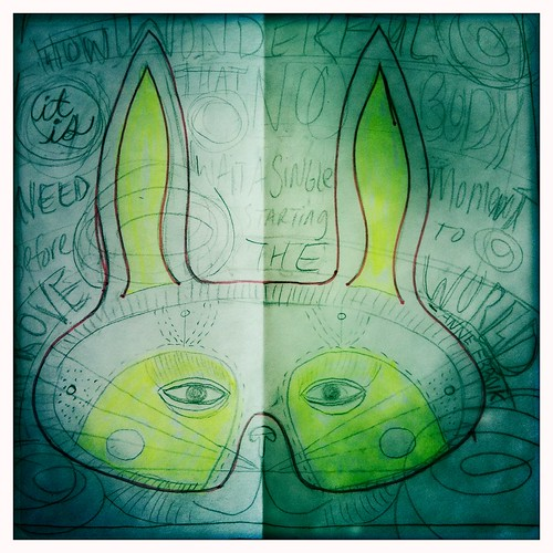 rabbit mask sketch