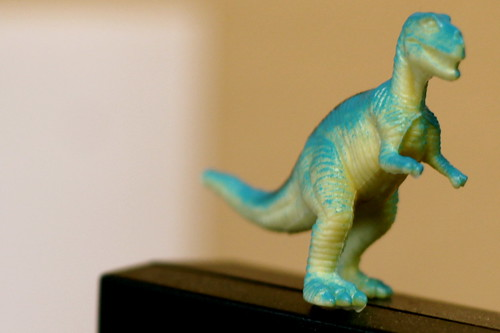 Wednesday: the dinosaur on my desk!