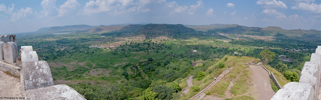 View atop Daulatabad fort.