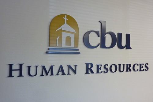 California Baptist University - Human Resources dimensional letters
