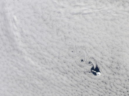 Cloud Vortices Heard Island Indian Ocean