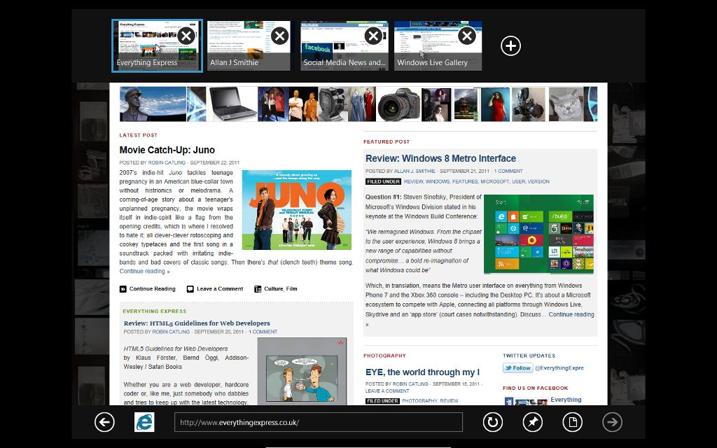 Review: Internet Explorer 10 'Metro'