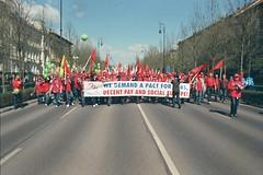 European trade union demonstration