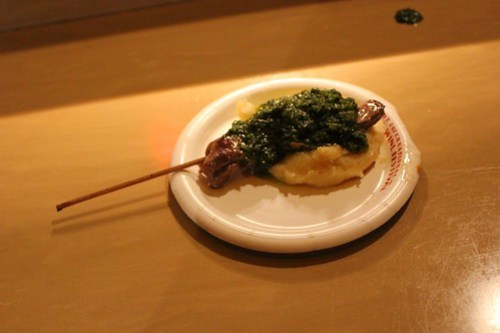 Argentina - Grilled Beef Skewer with Chimichurri Sauce and Boniato Puree