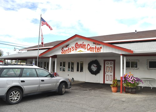 I Made My Friends Pull the Car Over to Take This Shot! Santa's Senior Center, North Pole, Alaska