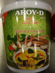 Thai green curry paste