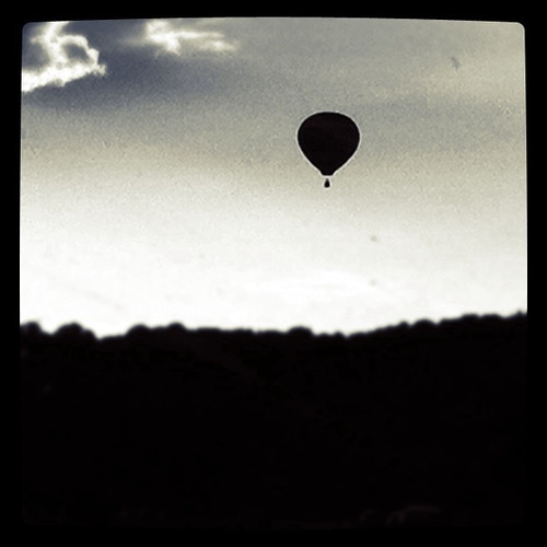 Balloon silhouette by Adil Zaman