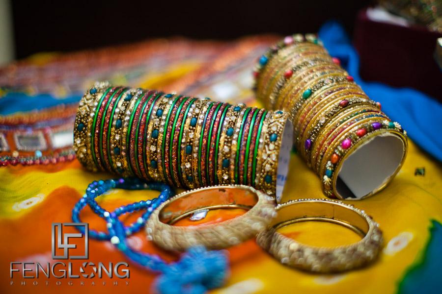 Bride's Wedding Bracelets Bangles | Shamz & Sana's Wedding Day 2 | Hyatt Place Atlanta Airport South | Atlanta Indian Photographer