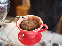 Freshly-roasted Ibrahim Yemen Mocha in a Hario V60 pourover, Geisha Specialty Coffee, Burlington Square, Bencoolen Street