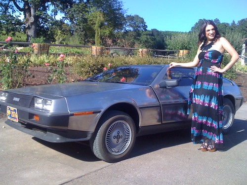 Lorien with a Delorean